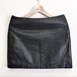 L.A.M.B. Women's Black Leather Skirt, Size 6